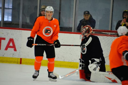 Morgan Frost is in line to make his NHL debut Tuesday. Meantime, Flyers coach Alain Vigneault wants the guys with bigger paychecks to earn them.