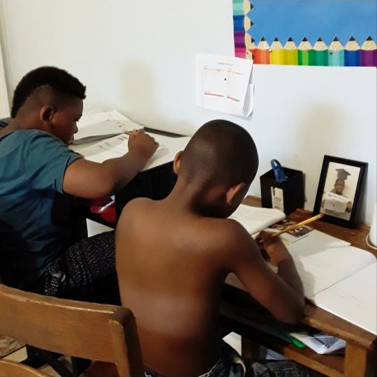 Pictured: her sons Mickey, 9 (left) and Michael Jones, 8 (right). Marsha Jones, who suffers from Multiple Sclerosis, needs a computer to communicate with agencies and providers. Her children could use the computer for homework.
