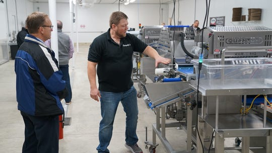 Pasquale's Frozen Pizza hosts an open house at its new plant in Humboldt, Iowa, on Nov. 13.