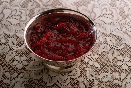 Cranberry sauce side dish.