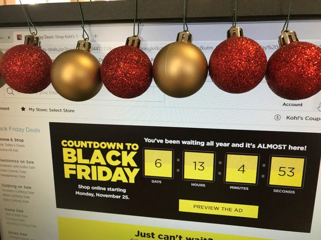 Black Friday, typically the day after Thanksgiving, will start early this year, such as on the Monday before Thanksgiving at Kohl's. This season, shoppers are warned to take extra care with their ID information as they shop online and elsewhere.