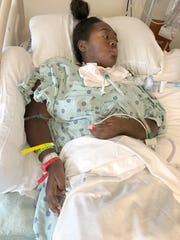 Lakeisha Cherry is photographed June 20, 2018 after suffering a severe brain injury.