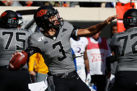 23. Oklahoma State (7-3) | Last game: Defeated Kansas, 31-13 | Previous ranking: NR.