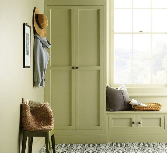Behr has named Back to Nature, a light green hue, its 2020 Color of the Year.