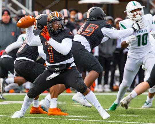 Christian Dhue-Reid (1) and Belleville have reached the Division 1 semifinals for the second straight season.