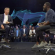 Bill Ford Jr. and Idris Elba introduce the Mustang Mach-E EV.