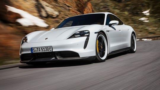 The 2020 Porsche Taycan.