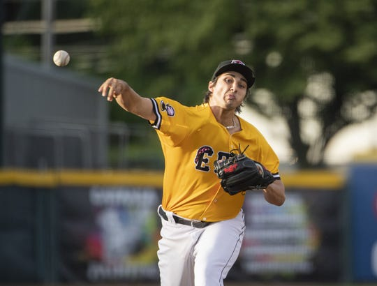 Alex Faedo pitches for the Erie SeaWolves this past season.