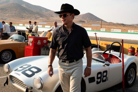 "This image released by 20th Century Fox shows Matt Damon in a scene from the film, ""Ford v. Ferrari."""