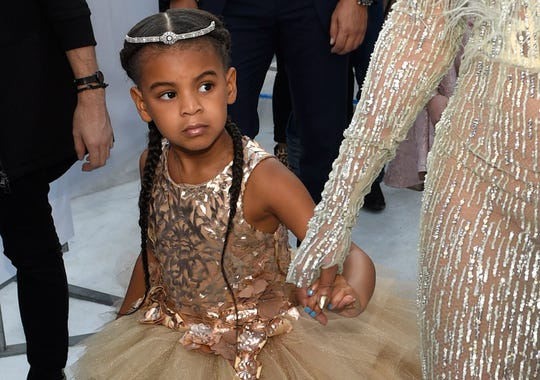 Blue Ivy, daughter of Beyonce and Jay-Z, arrives at the MTV Video Music Awards at Madison Square Garden in New York on Aug. 28, 2016.
