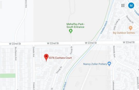 Location of Nov. 11 officer-involved Loveland police shooting