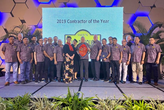 Hawaiian Rock Products earned the 2019 Contractor of the Year award.