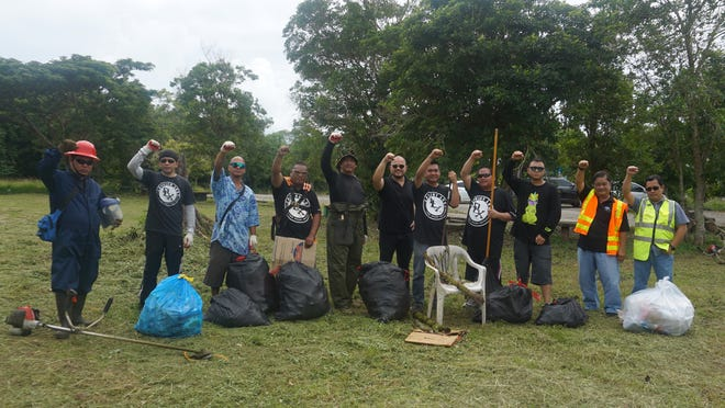 The group of businessmen and professionals of Domino Lux (DLX) International engaged in a clean-up of their adopted Dededo Terrace Park on Nov. 7.