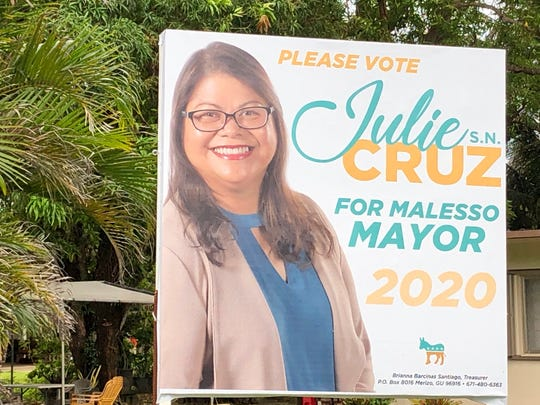 Signs up: Potential 2020 Merizo mayoral candidate Julie S.N. Cruz's team has started putting up campaign signs.