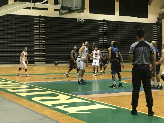 Team Gatorade faced off against the FSAG All-Stars team in a Triton Men's Basketball League game Nov. 15, 2019 at the UOG Calvo Field House.
