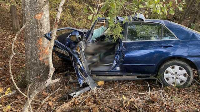 A Utica woman died Monday after the vehicle she was driving hit a tree in southwest Hinds County.