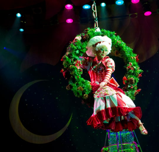 Mrs. Claus appears during the Cirque Dreams Holidaze show. The show is coming to the Tennessee Theatre on Dec. 3-4.