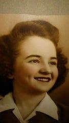 A family photo shows Maureen Borener-Walker's mother Rita Borener, now 94, as a young woman.