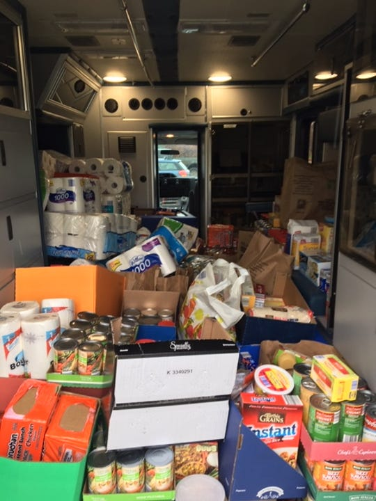 Livingston County residents donated more than 15,000 pounds of food during the Cram the Cruiser event in 2018.
