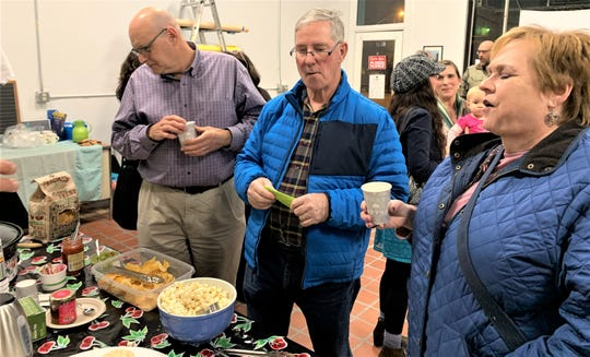Clipper City Co-op holds a recent meet-up event at its temporary office at 822 Franklin St.