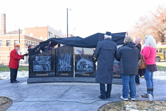 The Gold Star Families Memorial Monument was dedicated and unveiled Monday morning.