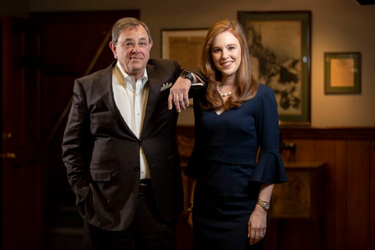 "Attorneys Richard Glassman and his daughter, Lauran Stimac, practice law together at Glassman, Wyatt, Tuttle and Cox, P.C., in downtown Memphis. The pair were consultants on the television show ""Bluff City Law."" Photographed Monday, Nov. 18, 2019, at their office."