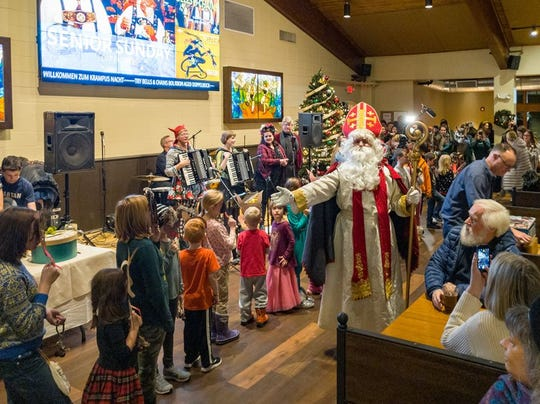 Children can make masks during Kid's Krampus Hour at 5 p.m. in the Weinstube Room. This requires a special $10 ticket and includes a candy bag, story telling, and participation in the KinderKrampus Parade.
