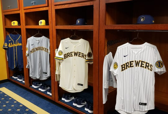 The Milwaukee Brewers' new road jerseys.