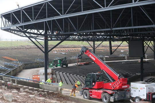 Construction work continued last month at American Family Insurance Amphitheater.