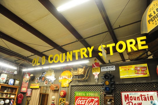 This was the original sign on the first Cracker Barrel at the headquarters Aug. 23, 2013 in Lebanon, Tenn.