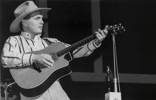 Garth Brooks performs at the Grand Ole Opry circa 1989.
