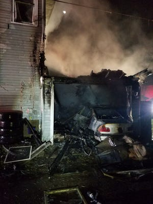 Four people were injured in a fire on Shields Street in Newark on Sunday, Nov. 17, 2019. No firefighter injuries were reported.