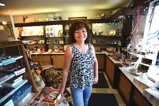 Karen Ryan, the owner, poses for photos at Hanna Krause's Candy, which opened in 1959, located in Paramus, photographed on 05/30/19.