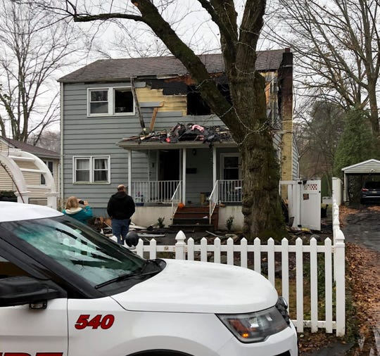 A fire heavily damaged a home in Wanaque Monday, Nov. 18, 2019.