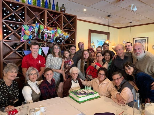 Josephine D'Andrea celebrated her birthday with her friends and family at Franco's Metro Restaurant.