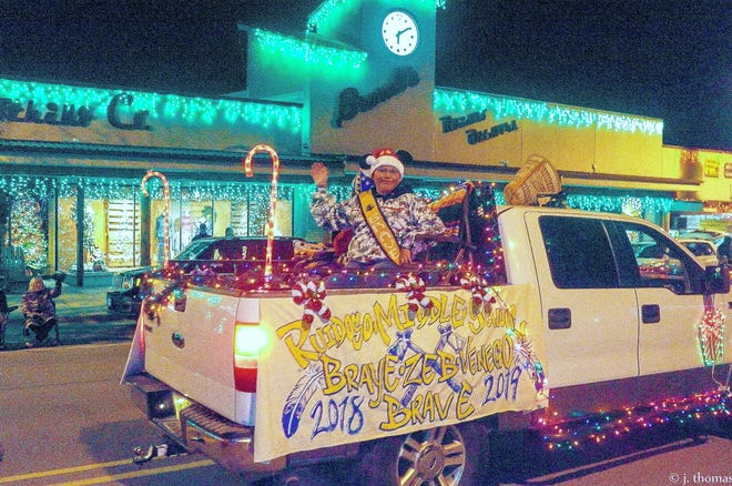 Big smiles during the festival of lights parade in Ruidoso. This year, the celebration is Dec. 7.