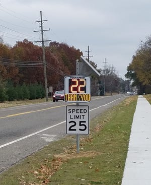 A new radar speed sign has been installed along Marquette Street in front of John Glenn High School in Westland.