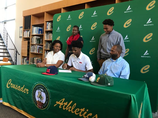 TJ McCants signs with Ole Miss on Monday at Catholic High.