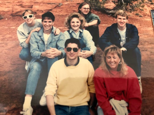 A road trip to Sedona with college friends, including (in the back) Mike Rowell.