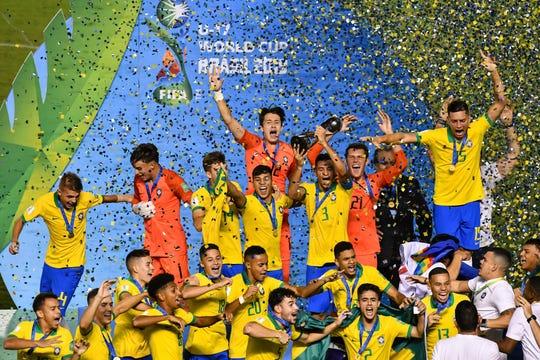 Brasil celebra el campeonato de la Copa del Mundo Sub-17.