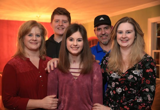 The Berak family, from left, Kathie, Daniel, Rebecca Julia and Steve at their home in the Town of Poughkeepsie on November 14, 2019.