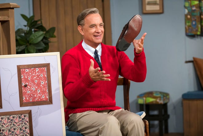 """Tom Hanks stars in """"A Beautiful Day In the Neighborhood,"""" opening Thursday at Regal West Manchester and R/C Hanover Movies 16."""