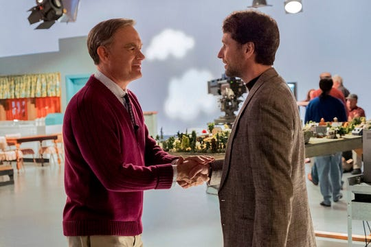"Tom Hanks, left, and Matthew Rhys star in ""A Beautiful Day In the Neighborhood,"" opening Thursday at Regal West Manchester and R/C Hanover Movies 16."