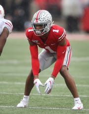 Ohio State Buckeyes Jeff Okudah figures to have the job of covering KJ Hamler, if Hamler plays.