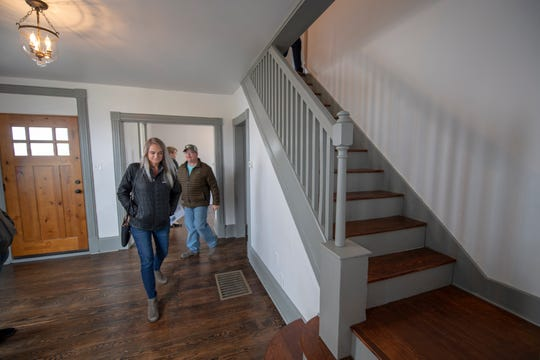 Northeastern School District holds an open house for a home that has been renovated over the past three years by students. Local businesses helped by donating labor and materials. Now finished, the house at 20 Codorus Furnace Road is expected to sell for over $100,000, more than tripling its worth.