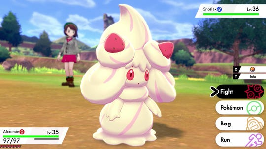 Alcremie requires a Strawberry Sweet and the special spin pose dance to evolve from Milcery. She has eight possible forms.
