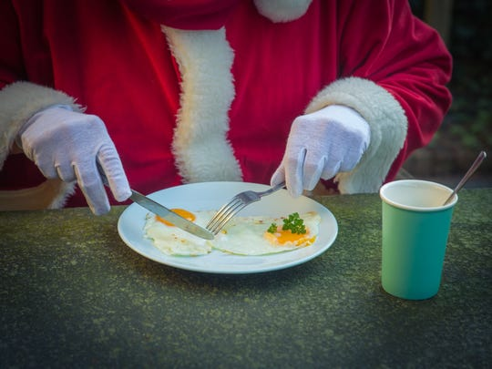 Santa has a lot of breakfasts scheduled around Rochester this year.