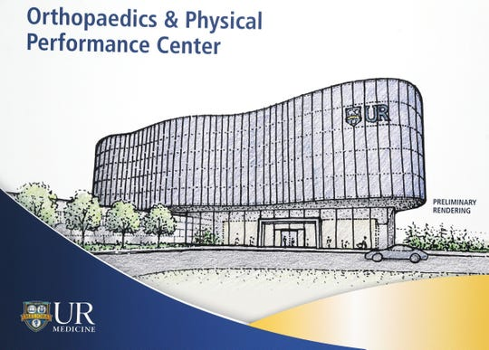 A rendering of what the new UR Medicine Orthopaedics & Physical Performance Center opening in the future at Marketplace Mall.