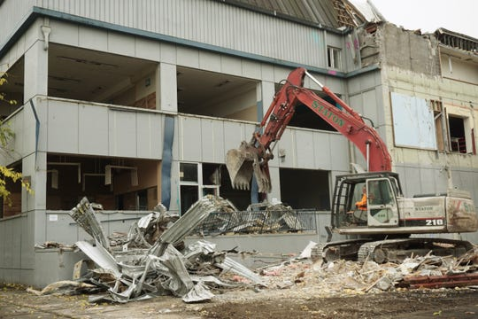 Demolition is underway on the north end of the downtown Salem Family YMCA on Monday, Nov. 18, 2019, to make room for a new $20.5 million facility.