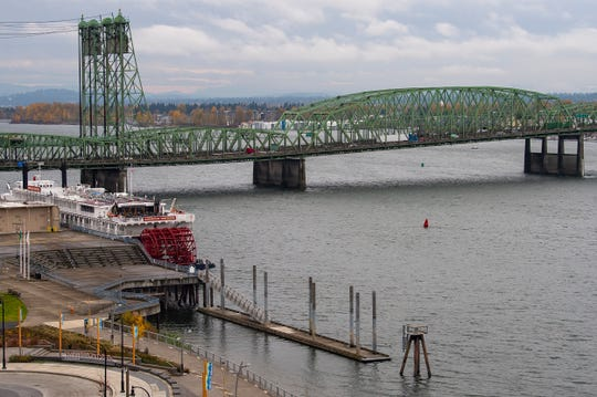 The Interstate 5 bridge is seen here from the Washington side on Monday, Nov. 18, 2019.
